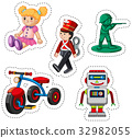 Sticker design for different toys 32982055