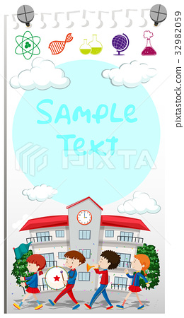 Paper template with school band marching 32982059