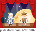 Astronaut and robot on stage 32982087
