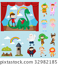 Stage scenes with different characters 32982185
