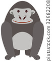 animal, character, gorilla 32982208