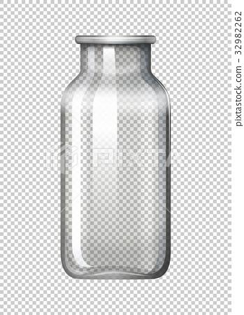 Glass bottle on transparent background