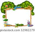 template frame caterpillar 32982279