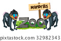 Two mandrills in the zoo 32982343