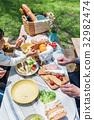 野餐 桌子 桌 32982474