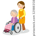 nursing, helper, Wheel Chair 32986358