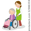 nursing, helper, Wheel Chair 32986359