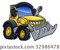 Digger Bulldozer Cartoon 32986478