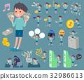 flat type blue clothing boy_money 32986613