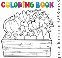 Coloring book farm products theme 1 32986653