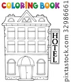 Coloring book hotel theme 1 32986661
