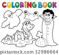 Coloring book monster theme 4 32986664