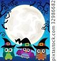Halloween image with owls theme 4 32986682