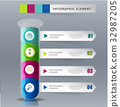 Creative template tube glass for infographic vecto 32987205