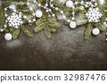 Christmas background with fir tree 32987476