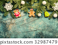 Christmas or New Year background 32987479