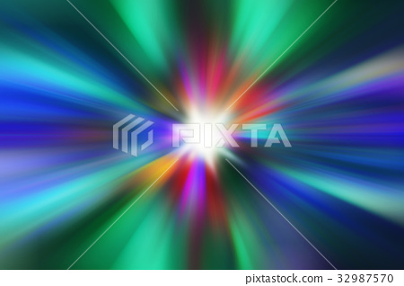 abstract green, colorful light explosion effects  32987570