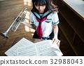 高中女生 少女 風儀器 32988043