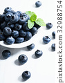 fresh blueberries, close up 32988754