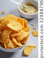 Crispy potato chips 32988796