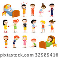 Sick Children Doodle Set 32989416