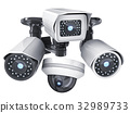 CCTV cameras isolated 32989733