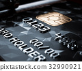 Black credit card background 32990921