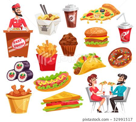 Fast Food Set 32991517