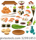 Japanese Food Set 32991853
