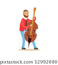 Male cellist playing cello vector Illustration 32992690