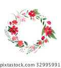 Delicate floral coronet made of pink and red 32995991
