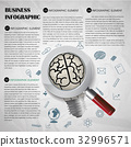 Paper creative education concept infographic. 32996571