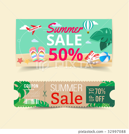 Tag price offer and promotion summer. 32997088