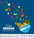 Salad healthy food diet.  32997092