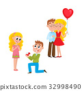 Loving couple, making proposal, happy together 32998490
