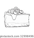 cake, vector, pastry 32998496
