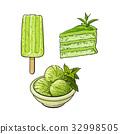 甜點 甜品 向量 32998505