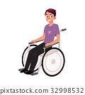輪椅 向量 向量圖 32998532