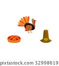 thanksgiving, vector, turkey 32998619
