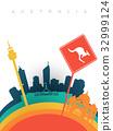 Travel australia 3d paper cut world landmarks 32999124