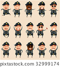 警察 男性 男人 32999174