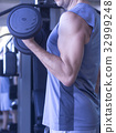 Male gym fitness workout 32999248