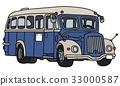Vintage blue bus 33000587