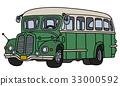 Vintage green bus 33000592