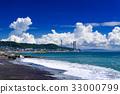 바다, 구름, 푸른 하늘 33000799