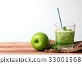 green smoothie juice in the glass bottle 33001568