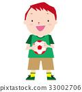 サッカーボールを持つ男の子 33002706