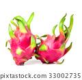 Fresh Dragon fruit or Pitahaya fruit  isolated  33002735