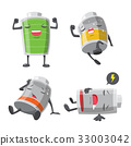 Battery man cartoon 33003042