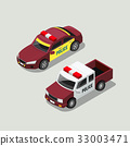 Isometric police car collections 33003471